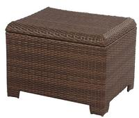 Wicker Patio Storage Ottoman