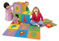 "$15.00 36-Piece 12""x12"" Imaginarium Alphabet & Numbers Foam Puzzle Mat Tiles"