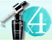 Free 4 Deluxe Genifique Samples + Extra Sample + Free Shipping with orders over $49 @ Lancome, a Dealmoon Exclusive