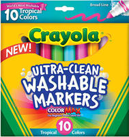 $1.97 Crayola Ultra Clean Washerable Markers, 10-Count