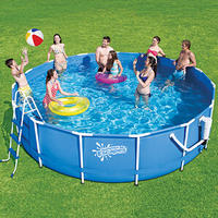"$159.00 Summer Escapes 15' x 42"" Metal Frame Swimming Pool"