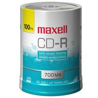 $3.49 Maxell CD-R 48X Recordable Media 100 Pack