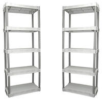 $44.88 2-Pack Plano 5-Shelf Storage Unit