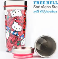 Free Hello Kitty Stainless Steel Travel Mug with $65 Purchase @ Sanrio