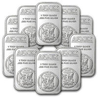 $224.99 1 oz APMEX Silver Bar - Lot of 10