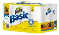 $10 Gift Card + $10 Off $40 Bounty Basic Select-A-Size White Paper Towels 12 Big Rolls