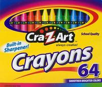 $1.64 Cra-Z-art Crayons, 64 Count (10202)