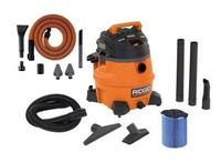 $89.00 Ridgid 14-Gallon Wet/Dry Vacuum + Ridgid Premium Car Cleaning Kit