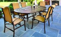 $774.99 Hanover Kerrington 7-Piece Outdoor Dinning Set with La-Z Boy Comfort