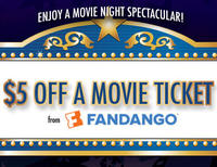 Two $5 Free Movie Credits @ Fandango