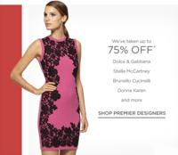 Up to 75% OFF  Premier Designers Sale @Saks Off 5th