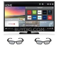 $749.99 LG 60PB6900 - 60-Inch Plasma 1080p 600Hz Smart 3D HDTV + 2 Pairs of Active 3D Glasses