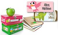 $5 Personalized Children's Name Label 42-Pack Voucher from Dinkleboo