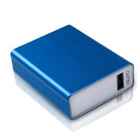 $9.99 SCUD Magic Cube 5000mAh Portable Power Bank -Silver & Blue