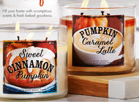 2 for $22+ $10 off $30 3-Wick Candles @ Bath & Body Works