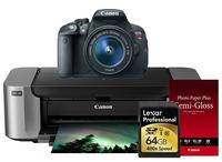 $649.00 Canon EOS Rebel T5i 18-55 IS II + Pro 100 Laser Inkjet Printer + 50 PackPaper + Lexar 64GB 400X SDHC Card