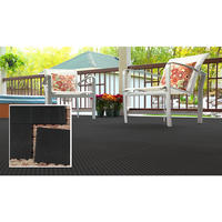 "$94.79 TopDeck Open Grid 12"" x 12"" Deck and Garage Tile - Black, Pack of 40"