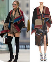 Free $300 Gift Card with Burberry Prorsum Check Blanket Poncho Purchase  @ Bergdorf Goodman