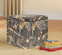 $16.88 Mainstays Faux Suede Ultra Storage Ottoman(Multiple Colors)