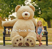 "$179.99 The 93"" Plush Bear @ Costco"