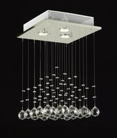 $85.00 Modern Chandelier Rain Drop Lighting Crystal Ball Fixture Pendant Ceiling Lamp H18 X W12, 3 Lights