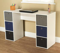 $89.00 Student Writing Desk with 6 Fabric Bins