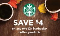 $4 Off Printable Coupon for Any Two Starbucks Coffee Products