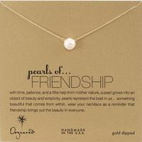 """$35.00 Dogeared """"Pearls of . . . Friendship"""" Gold-Plated Silver and Freshwater Cultured Pearl Necklace, 18"""""""