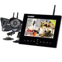 """$229.00 Lorex SD7+ Wireless Video Monitoring System with 2 Cameras, 7"""" LCD Monitor, & 40' Night-Vision"""