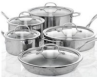 $255.00 Calphalon Tri-Ply Stainless Steel 10 Piece Cookware Set