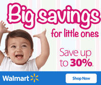 Up to 30% Off Big Baby Sale @ Walmart