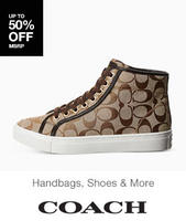 Up to 81% Off on Coach Handbags, Shoes and More @ 6PM.com