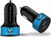 $5.98 Volmate Apple Certified 3.4A / 17W Dual Port USB Rapid Car Charger