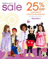 Up to 25% Off Halloween sale  @ Disney Store