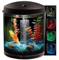 $19.97 KollerCraft AQUARIUS AquaView 360 Aquarium Kit with LED Light - 2-Gallon