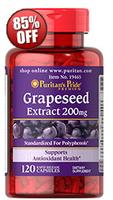 3 for $4.86 Puritan's Pride Satisfaction Guaranteed or Your Money Back Grapeseed Extract 200 mg