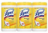$7.57 Lysol Disinfecting Wipes Value Pack, Lemon and Lime Blossom, 240 Count
