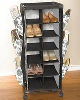 $14.39 BrylaneHome Rolling Cart with Shelves