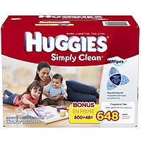 $8.42 Huggies Simply Clean Fragrance Free Baby Wipes Refill - 648-Count