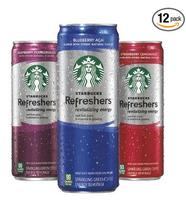 $12.57 Starbucks Refreshers Variety Pack, 12 Ounce Slim Cans, 12 Pack