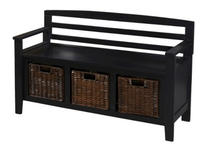 $99.98 Entryway Bench with Drawers and Baskets