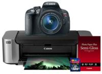 $599.00 Canon EOS Rebel T5i 18-55 IS II + Pro 100 Photo Printer + 50 Pack Paper + 32GB SDHC Card