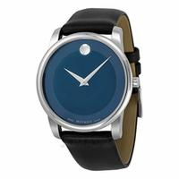$229.00 Movado Museum Blue Dial Stainless Steel Men's Watch 0606610