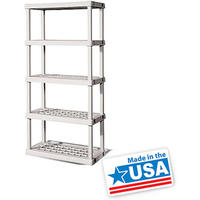 $39.97 Sterilite 5 Shelf Unit- Light Platinum