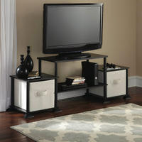 """$19.88 Mainstays No Tools 3-Cube Storage Entertainment Center for TVs Up to 40"""""""
