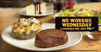 $11.99 Three Courses Dinner on Wednesday  @ Outback Steakhouse
