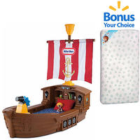$299.97 Little Tikes Pirate Toddler Bed w/BONUS Toddler Mattress Bundle
