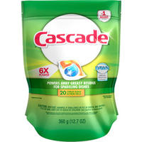 $3.97 + $5 Rebate Cascade Dishwasher Dish Detergent ActionPacs, Citrus Scent, 12.7 oz