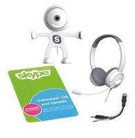 $7.99 3 Month Unlimited US & Canada Skype Subscription Card w/Free Binatone Webcam & Headset