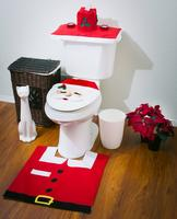 $12.30 Santa Toilet Seat Cover and Rug Set